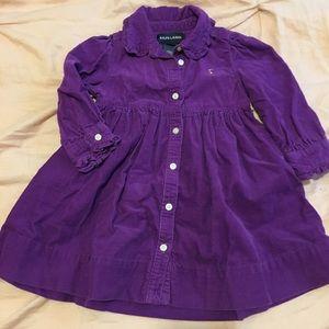 Ralph Lauren dress. Purple. Corduroy.